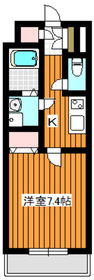 サングレース赤塚A1階Fの間取り画像