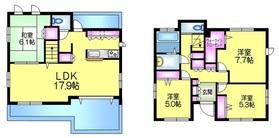神明町吉田邸1階Fの間取り画像