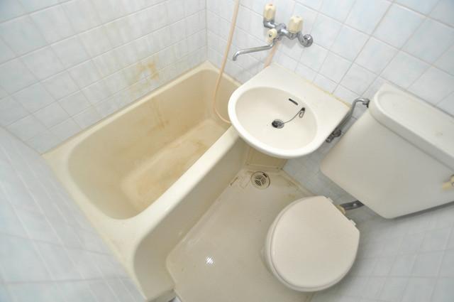 OMレジデンス八戸ノ里 シャワー一つで水回りが掃除できて楽チンです