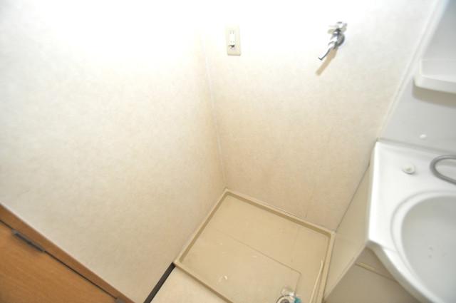 レシェンテオクノ 室内に洗濯機置き場があれば雨の日でも安心ですね。
