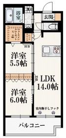 (仮称)東恋ヶ窪2丁目メゾン2階Fの間取り画像