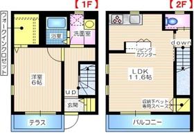 メゾンオリーブわん1-2階Fの間取り画像