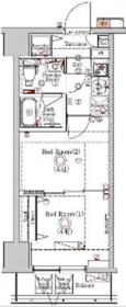 ラフィスタ川崎Ⅵ6階Fの間取り画像