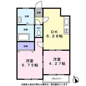 ラフィーネ横浜7階Fの間取り画像