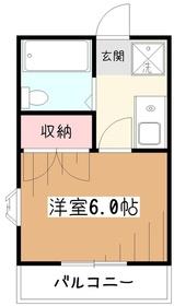 大和屋マンション2階Fの間取り画像