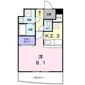 武蔵中原駅 徒歩4分3階Fの間取り画像