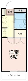 ソレイユ稲田堤1階Fの間取り画像