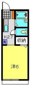 アルテ1階Fの間取り画像