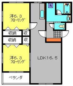 武蔵新城駅 徒歩27分3階Fの間取り画像