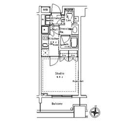 パークアクシス御茶ノ水ステージ9階Fの間取り画像
