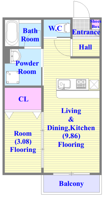 システムカウンターキッチン。素敵な設備が充実していますよ。