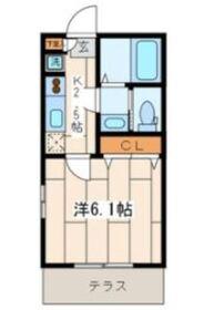 リリックコートYOKOHAMA I1階Fの間取り画像