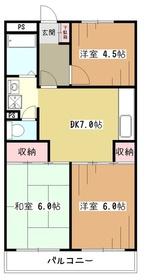RALLYマンション4階Fの間取り画像