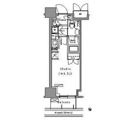 パークアクシス台東根岸6階Fの間取り画像