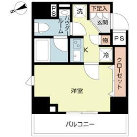 スカイコートルーベンス西早稲田3階Fの間取り画像