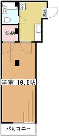 舘野ビル3階Fの間取り画像