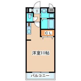 レーベンス柏木2階Fの間取り画像