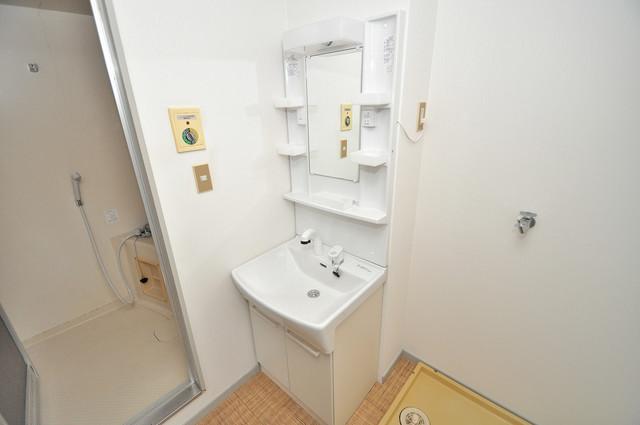 サンライフ若江東 人気の独立洗面所にはうれしいシャンプードレッサー完備です。