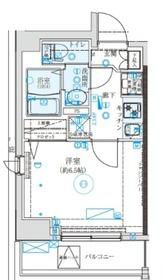 クレイシア西横浜2階Fの間取り画像