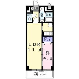 ベルテ東武練馬4階Fの間取り画像