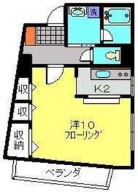 武蔵中原駅 徒歩9分2階Fの間取り画像