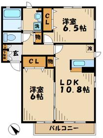 門沢橋駅 徒歩11分1階Fの間取り画像