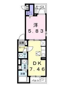 サンクタス1階Fの間取り画像