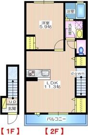シェソワ2階Fの間取り画像