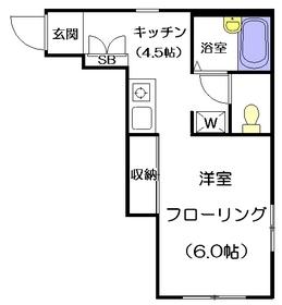 パークアベニュー1階Fの間取り画像