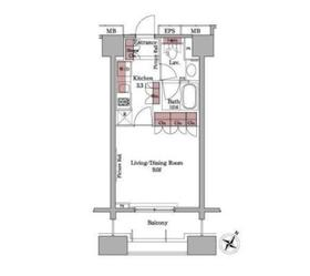 パークアクシス白金台8階Fの間取り画像