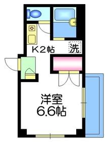 アビ・コート2階Fの間取り画像