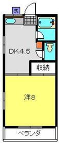 綱島駅 徒歩3分2階Fの間取り画像