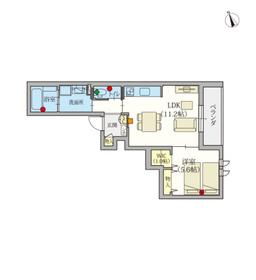 (シニア限定)ヘーベルVillage調布富士見町3階Fの間取り画像