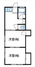 ハイツ山田1階Fの間取り画像