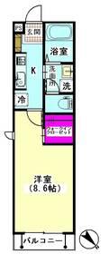ル・シェル・ブルー下丸子 201号室