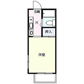 ハイツトーマス1階Fの間取り画像