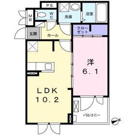 鶴間駅 徒歩20分2階Fの間取り画像