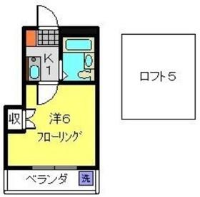 大倉山駅 徒歩30分3階Fの間取り画像