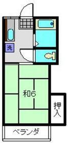クリーンハウス2階Fの間取り画像
