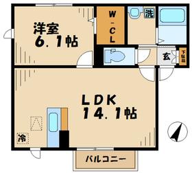 厚木駅 車16分3.5キロ2階Fの間取り画像