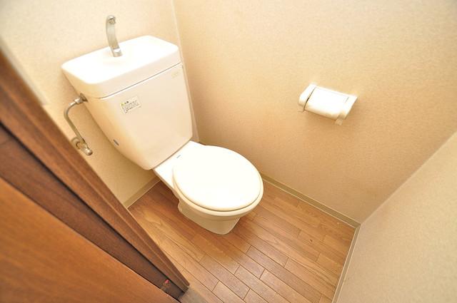 グランメール高井田 清潔感のある爽やかなトイレ。誰もがリラックスできる空間です。