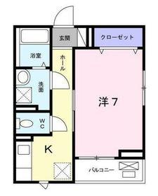 アル ソーレ2階Fの間取り画像