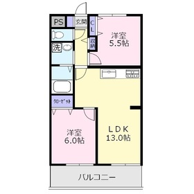 オーキッドマンション2階Fの間取り画像