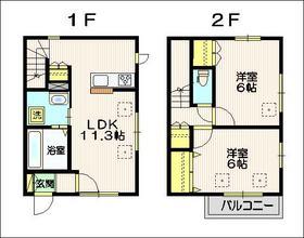 メゾン桜1-2階Fの間取り画像