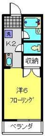メゾンモントル2階Fの間取り画像