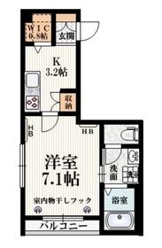 グランヴァレ新代田2階Fの間取り画像