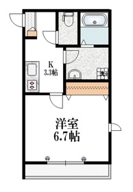 Xenia徳丸3階Fの間取り画像
