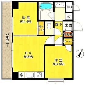 中野島駅 徒歩14分1階Fの間取り画像
