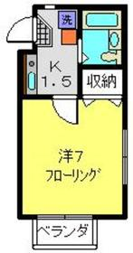 武蔵新城駅 徒歩11分2階Fの間取り画像