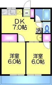 シティハイム カツヤマ2階Fの間取り画像